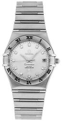 New Omega Constellation Diamonds Steel Menand039s Watch 111.10.36.20.52.001