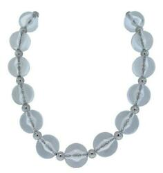 Dolce And Gabbana Jewels Dj0506 Women's Clear Lucite Beaded Necklace 17