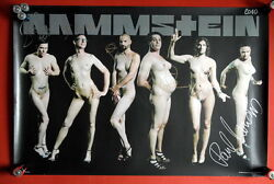 Rammstein Original Rare Fully Signed Autographed Poster 2010 Liebe Ist Fur Alle