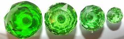 Green Cut Facetted Glass Drawer And Cupboard Pull Door Knob 4 Sizes Gb Seller