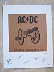 Ac/dc Signed Autographed Litho For Those Psa Certified 9 Of 50 Artistand039s Proof