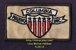 Lmh Patch Badge Columbia Paving Inc. Asphalt Road Contractor Tar Sealcoat Used