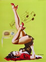 Large Size Catalin Radio Pinup Elvgren Pin-up Deco Sale Stockings Lingerie Sheer