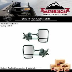 Trail Ridge Towing Mirror Power Heated Smoked Signal Chrome Pair For Gm Pickup
