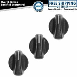 Dorman Climate Heater AC Temperature Blower Vent Knob SET of 3 for Wrangler