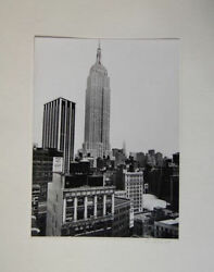 Rudy Burckhardt Signed 1945 Empire State Building Photograph New York City