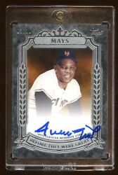 Willie Mays 2014 Topps Autograph D 03/10 Before They Were Great Super Rare Hof