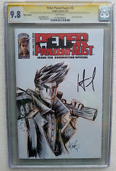 Peter Panzerfaust 10 Blank Sketch Variant Dbl Signed Wiebe 9.8 Cgc Gold Label