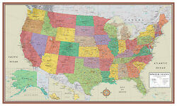 Swiftmaps United States USA US Contemporary Elite Wall Map Large Mural Poster