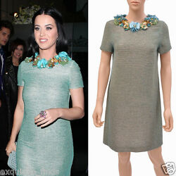 $12000 NEW GUCCI BEADED DRESS WITH FLORAL EMBROIDERY  as seen on KATY