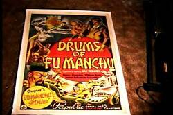 Drums Of Fu Manchu Orig Movie Poster 1940 Linen Chapter 1 Serial Great