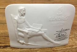 Lladro Spain Collectors Society White Bisque Plaque Sign Don Quixote Advertising