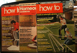 3 Vintage Magazines, Homeowners How To Handbook, 1975 1976, Outdoor Furniture