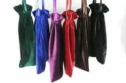 10pcs Large 8quot;x8quot; Velvet Bags Jewelry Wedding Party Gift Drawstring Pouches $17.59