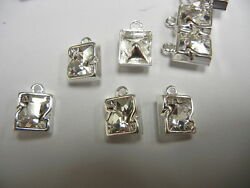 12 swarovski letter Z 10mm crystal #4889 in1-loop cast settingssterling plate