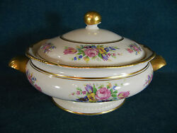 Castleton Rose Round Handled 10 5/8 Covered Serving Bowl With Lid