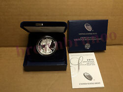 2015 W American Eagle One Ounce Silver Proof West Point Coin 1 Oz Box And Coa Es6