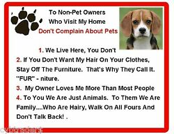 Funny Dog Beagle House Rules Refrigerator Magnet Gift Card Insert