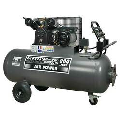 Sealey Compressor 200ltr Belt Drive 3hp with Front Control Panel - SAC3203B