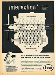 Publicite Advertising 025 1954 Esso Stations Service Interaction