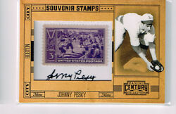 Johnny Pesky 2010 Panini Century Collection Autograph Stamp 1/1 Boston Red Sox