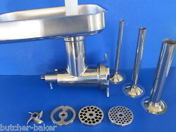12 Stainless Meat Grinder For Hobart Mixer W/ Sausage Tubes A200 4212 D300 H600