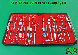 83 Pc Us Military Field Minor Surgery Surgical Veterinary Dental Instrument Kit