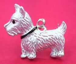 West Highland Terrier Lovers Adorable SilverWhite Enamel Pin - Brooch
