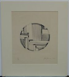 Fritz Glarner, Tondo No.5, Lithograph From Universal Limited Art Editions