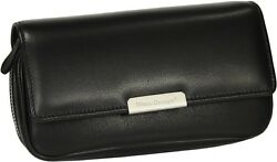 Martin Wess Germany Onyx Nappa Leather 2 Pipe Bag New In Box