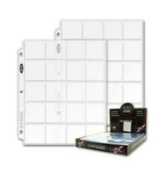 Lot Of 50 Bcw 20-pocket Album Pages For 2x2 Coin Flips Binder Protector Sheets