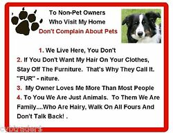 Funny Dog Border Collie House Rules Refrigerator Magnet Gift Card Idea