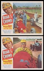 Sports Car Auto Racing Original 1953 Lobby Card Movie Posters Roar Of The Crowd