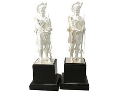 Contemporary Pair of Sterling Silver 'Gordon Highlanders' Table Ornaments