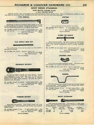 1951 Advert 2 Sided None Better Tool Wrench Socket Ratchet Sets Tools