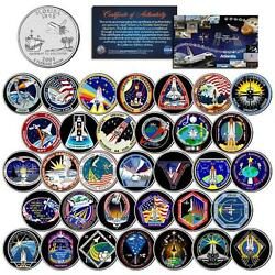 Space Shuttle Atlantis Missions Colorized Fl State Quarters Us 33-coin Set Nasa