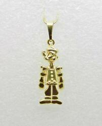 18k Yellow Gold Vintage Popeye The Sailor Man Articulated Pendant - Lb2444
