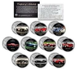 The Most Expensive Auction Cars Colorized Jfk Kennedy Half Dollar Us 10-coin Set