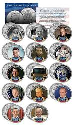Person Of The Year Colorized Jfk Half Dollar Us 14-coin Set Reagan Obama Clinton