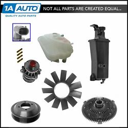 Water Pump Pulley Fan Blade Clutch Coolant Sensor Tank Cap Kit for BMW 3 Series