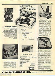 1957 Advert Remco Electronic Space Gun Toy Hubley Repeating Scout Rifle Burp Gun