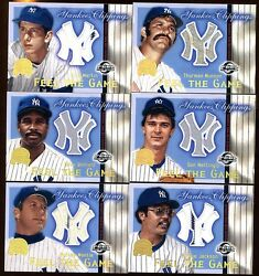 Yankees Clippings Game Jersey Set 15 Cards Mantle-munson-mattingly-martin-guidry