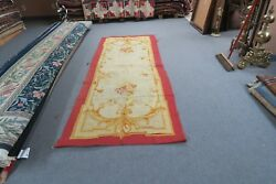 Antique French Aubusson Tapestry Panel 42 X 100 Early 1900's Handmade Wool