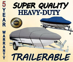 Trailerable Great Quality Boat Cover Fits 19and039 - 21and039 V-hull Runabout Bow Rider