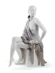 Lladro Nude With Shawl Re-deco 8673 Brand New In Box Large Elegant Bargain F/s
