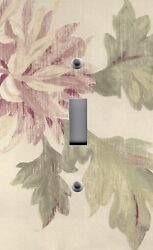 Light Switch Plate Outlet Covers Floral Shabby Pink Roses Antique
