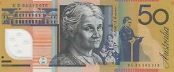 1995 Australia 50 Fifty Dollars Fraser/evans Uncirculated Note He 95545076