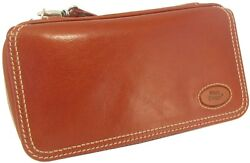 Martin Wess Germany Country Brown Nappa Leather Vintage Look 3 Pipe Bag New
