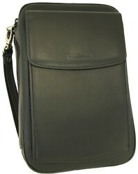 Martin Wess Germany Lea Soft Nappa Leather 5 Pipe Bag Case W Office Compartment