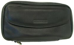 Martin Wess Germany Lea Soft Leather 4 Pipe Bag Case W.compartments New